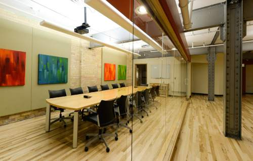 Francisco Kjolseth  |  The Salt Lake Tribune More than half-dozen business incubators have sprung up in Salt Lake City's downtown in recent years, including Holodeck.  They offer inexpensive `co-working' space, where startup companies share offices, support services to save costs.