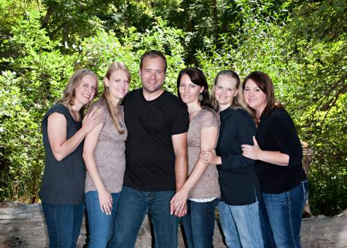 | Courtesy Brady Williams and his wives, from left to right: Nonie, Robyn, Brady, Paulie, Rhonda, Rosemary.
