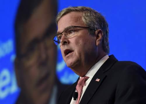 Former Florida Gov. Jeb Bush gives the keynote address at the National Summit on Education Reform in Washington, Thursday, Nov. 20, 2014. (AP Photo/Susan Walsh)