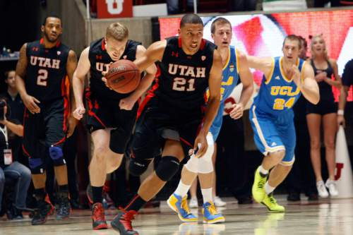 Chris Detrick  |  The Salt Lake Tribune Utah Utes forward Jordan Loveridge (21) during the second half of the game at the Huntsman Center Thursday January 10, 2013.  UCLA won the game 57-53.