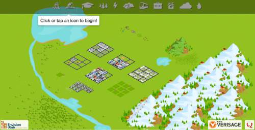 A screenshot from a new interactive game being launched by regional planners, to survey how Utahns want the state to grow as it doubles its population by 2050.  Courtesy image