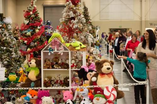 Rick Egan  |  The Salt Lake Tribune  The Festival of Trees at the South Towne Expo Center, Thursday, December 4, 2014.