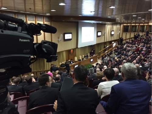 (Photo courtesy LDS Church)  Religious leaders and scholars from around the world meet at Vatican City for a colloquium on marriage.
