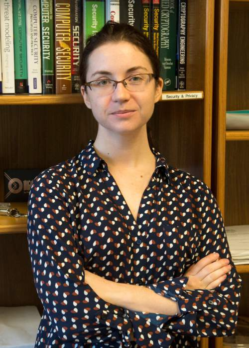 Rick Egan  |  The Salt Lake Tribune  University of Utah professor, Tamara Denning, is an expert in cyber security. Wednesday, November 26, 2014