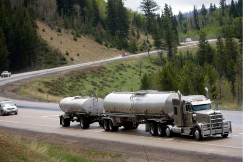 "Kim Raff | The Salt Lake Tribune Legislators heard Wednesday that a study is beginning to look at options for carrying extra oil taankers that include converting US-40 ?-- now just a two-lane road in many stretches -- into a ""super highway."""