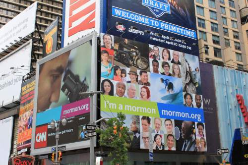 "Courtesy of Mormonnewsroom.org ""I'm a Mormon"" ads on display in New York City."