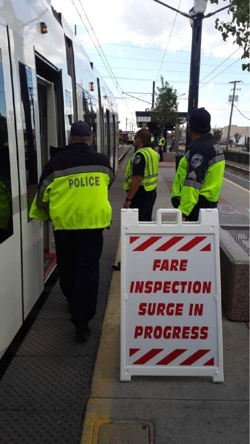 Courtesy  |  UTA  A UTA fare enforcement surge on October 21.