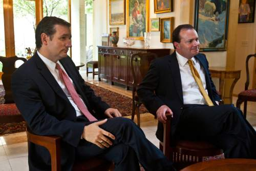 Chris Detrick    Tribune file photo Sens. Ted Cruz, R-Texas, and Mike Lee, R-Utah, are being hammered by conservatives for their failed weekend strategy opposing Obama's immigration changes. Critics say the effort opened the door on confirmation of nominees who otherwise wouldn't have been approved.