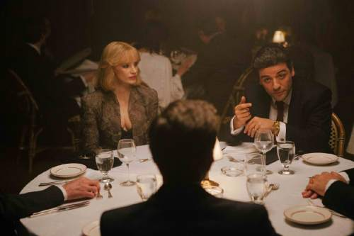 """Jessica Chastain (left) and Oscar Isaac star in """"A Most Violent Year,"""" director J.C. Chandor's crime drama set in New York in 1981. Courtesy A24 Films"""