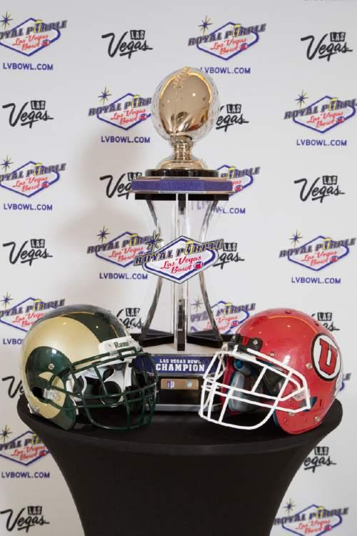 Courtesy  |  R. Marsh Starks, Royal Purple Las Vegas Bowl The Royal Purple Las Vegas Bowl championship trophy.