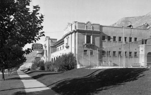 Courtesy   Utah State Historical Society Wasatch Warm Springs Plunge, now the Children's Museum, Oct. 12, 1939.