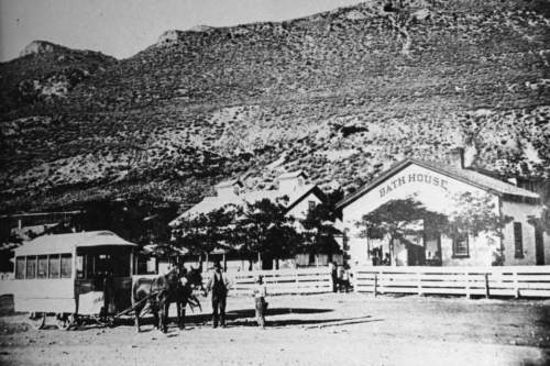 Courtesy | Utah State Historical Society Warm Springs Bath House 1868.