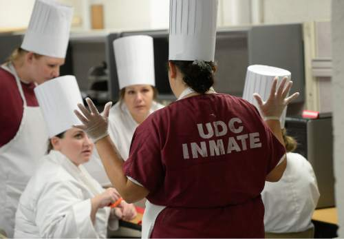 Francisco Kjolseth  |  The Salt Lake Tribune Food is creating a new path for 18 female inmates enrolled in the culinary arts program at the Timpanogos women's facility.