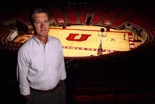8.16.07. University of Utah Athletic Director Chris Hill photographed at the Huntsman Center. Photo: Grayson West