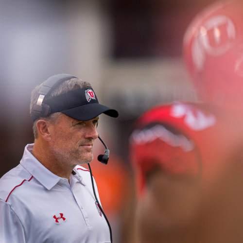Trent Nelson  |  The Salt Lake Tribune Utah Utes head coach Kyle Whittingham, as Utah hosts Fresno State, college football at Rice-Eccles Stadium Saturday September 6, 2014.