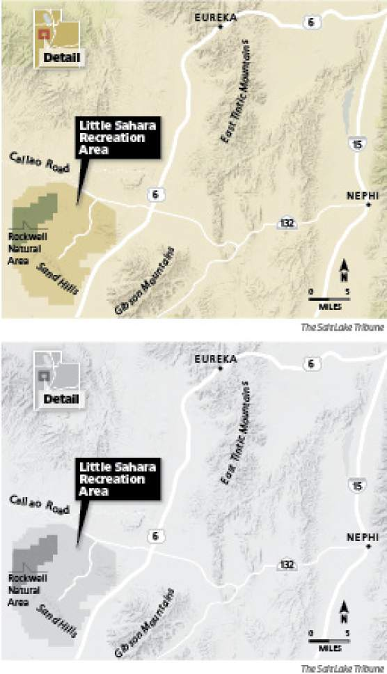 Bill would make Little Sahara state-run park Currently managed by the Bureau of Land Management, the Little Sahara recreation area would become a state park under a proposal by Steve Eliason, R-Sandy.