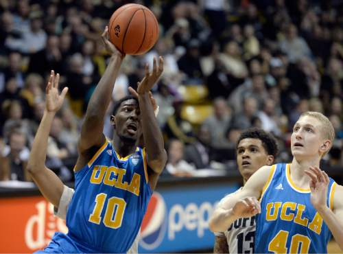 UCLA's Isaac Hamilton drives to the hoop during the second-half of an NCAA basketball game against Colorado on Friday, Jan 2, 2015, in Boulder, Colo. (AP Photo/The Daily Camera, Jermy Papasso)