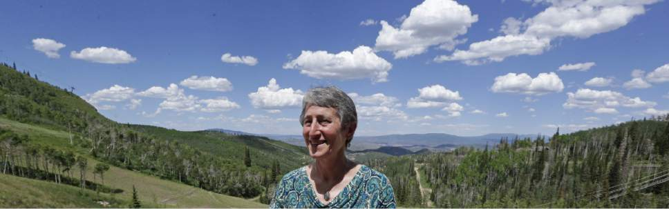 FILE - In this June 28, 2013 file photo, Interior Secretary Sally Jewell poses for photographers during the Western Governor's Association meeting, in Park City, Utah. A deadline Utah set for the federal government to hand over 31 million acres of public land quietly passed this week with no such transfer, something predicted by both critics and supporters of the state's push for control. (AP Photo/Rick Bowmer, File)