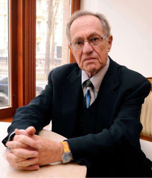 FILE - This April 11, 2011 file photo shows attorney Alan Dershowitz at a hotel  in Kiev, Ukraine, where he was preparing to defend former Ukrainian president Leonid Kuchma, who was accused in the murder of an investigative journalist more than 10 years ago. The papers of the prominent lawyer and author are now available to researchers at Dershowitz's alma mater, Brooklyn College. Dershowitz donated his papers to Brooklyn College rather than Harvard, where he is a professor.  (AP Photo/Sergei Chuzavkov, File)
