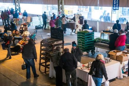 Chris Detrick     The Salt Lake Tribune The Winter Farmers Market at the Rio Grande Depot Saturday January 3, 2015.