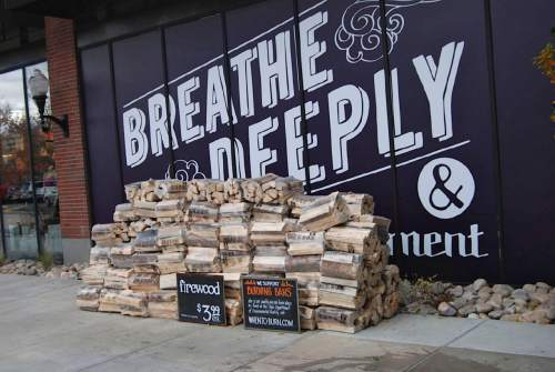 Brian Maffly  |  The Salt Lake Tribune  Fire wood is sold all over the Wasatch Front, including at this Salt Lake City Whole Foods store whose decor celebrates healthy air quality. The Utah Department of Environmental Quality is fielding public comment on a proposed winter-long ban on wood burning.