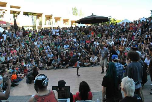 The Bboy Federation is performing for the mass crowd at the Utah Arts Festival 4th year in a row.