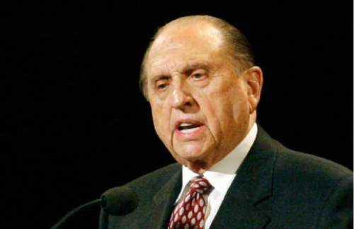 LDS Church President Thomas S. Monson is a registered Republican.