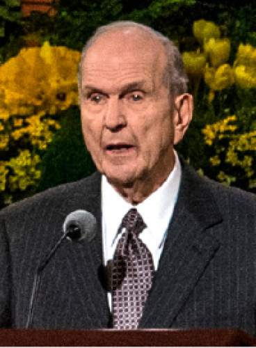 Chris Detrick  |  The Salt Lake Tribune Elder Russell M. Nelson, Quorum of the Twelve Apostles, is a registered Republican.