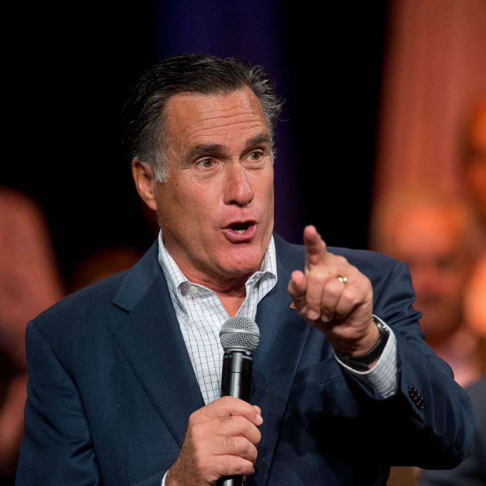 Trent Nelson  |  Tribune file photo Mitt Romney was meeting with Jeb Bush in Utah on Thursday. Former Utah Gov. Mike Leavitt said not too much should be read into the huddle and he doesn't expect either man to change his plans whether to run or not.