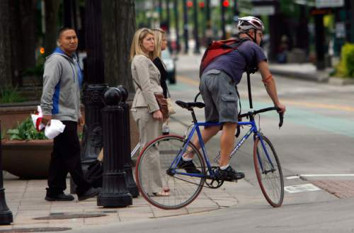 Francisco Kjolseth  |  Tribune file photo  A lot more Utahns in metropolitan areas are commuting by bike. Transportation planners like the trend and want to facilitate it with networks of new, safer bike trails.