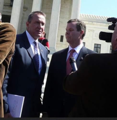 Matt Canham  |  Tribune file photo Attorney General Mark Shurtleff and his chief deputy John Swallow.