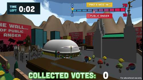 The University of Utah | Courtesy photo  A screenshot from the Bad Air Day video game.