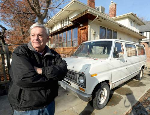 Al Hartmann  |  The Salt Lake Tribune Arman Peterson is being fined $14,400 by Salt Lake City for having two cars parked in his driveway that were unlicensed or not operable. The cars, a '74 Ford van and a '65 Volvo sedan were parked on his driveway at his triplex at 44 W. 500 North. He was looking for a replacement carburetor for the van and the Volvo was running. But neither was licensed. He plans on appealing the fines and is irked that he could be subject to such penalities for what he parks in his own private drive.