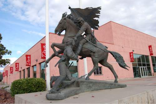 Brian Maffly |  Tribune file photo  ìThe Rebels,î by Utah sculptor Jerry Anderson.