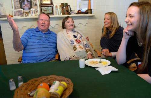 Al Hartmann  |  The Salt Lake Tribune Merrill Cook former congressman and perennial candidate, is now a full-time caregiver for his wife, Camille who suffers from Alzheimer's disease. The couple share a family story with their two daughters Alison and Michelle.