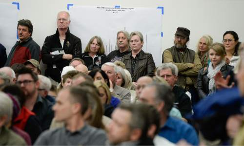 Francisco Kjolseth  |  The Salt Lake Tribune  The State holds a packed public hearing on Gov. Gary Herbert's proposed wintertime wood burn ban in Salt Lake City. The hearing held at the Salt Lake City Department of Environmental Quality is one of 7 scheduled across northern Utah with many in the room opposed to the ban.
