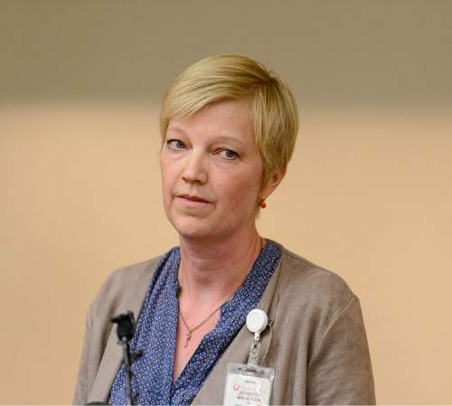 Trent Nelson  |  The Salt Lake Tribune Dr. Jennifer Majersik, a neurologist, talks about today's death of Rebecca Lockhart, former speaker of the Utah House, at the University of Utah Hospital in Salt Lake City, Saturday January 17, 2015.