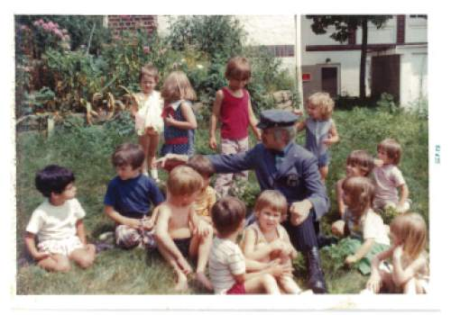 "photo courtesy Greg Hughes  ""Mr. McFeeley,"" the mailman from the children's show Mr. Rogers, visits the preschool class of a young Greg Hughes. The show was filmed in Pittsburgh, where Hughes grew up."