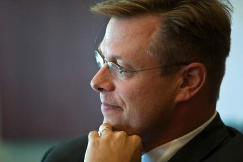 Chris Detrick  |  Tribune file photo   Deseret News CEO Clark Gilbert said Tuesday that the newspaper was cutting almost half of its newsroom staff as it deals with a revolution in how consumers get news at the same time advertising revenues have declined.