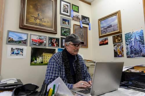 Trent Nelson     The Salt Lake Tribune Investigator Sam Brower at his office in Cedar City, Thursday January 15, 2015.