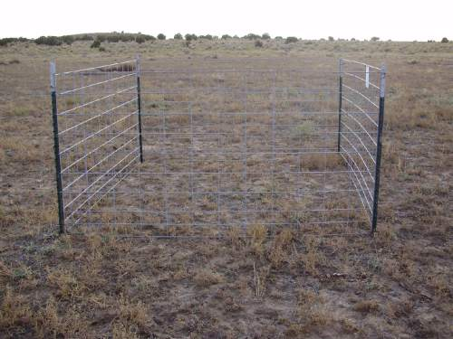 Courtesy     Dustin Ranglack, USU  A partial exclosure, at the time of construction, placed by Utah State University ecologists in Utah's Henry Mountains to exclude large herbivores, but allow access to smaller lagomorphs; that is, rabbits and hares.