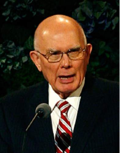 Scott Sommerdorf   |  The Salt Lake Tribune Elder Dallin H. Oaks of the LDS Quorum of the Twelve is a registered Republican.