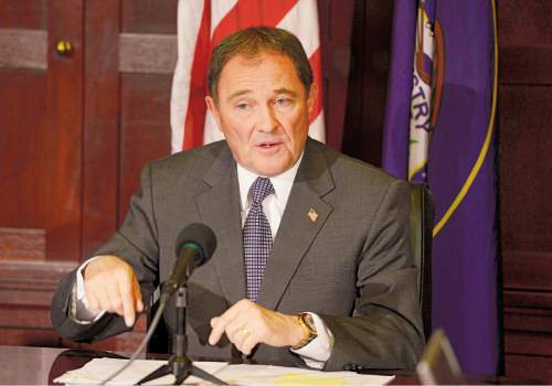 Leah Hogsten  |  Tribune file photo Utah Gov. Gary Herbert says while he supports the lawsuit that has, at least  temporarily, blocked against President Barack Obama's executive orders on immigration, he wants to see Congress step up on immigration reform.