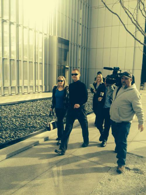 Tom Harvey  |  The Salt Lake Tribune Dell Schanze outside of the Federal Court house in Salt Lake City on Tuesday.