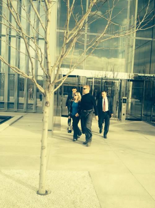 Tom Harvey  |  The Salt Lake Tribune   Dell Schanze outside of the Federal Court house in Salt Lake City on February 3, 2015.