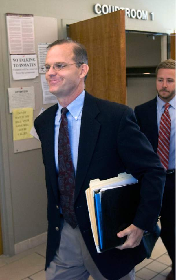 Al Hartmann  |   Tribune file photo Provo Councilman Steve Turley is seen leaving a court hearing.