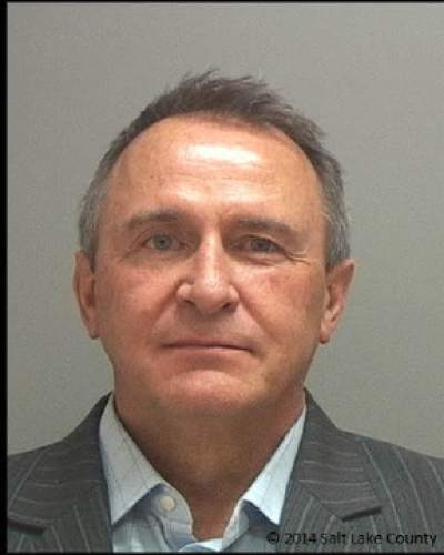 Mark Shurtleff booking mug. (Salt Lake County Sheriff's Office photo)