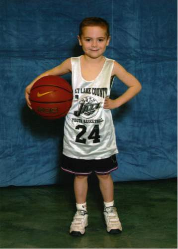 |  Courtesy Kelly Shorts  Copper Hills High School basketball player Stockton Shorts, when he was 5 years old.