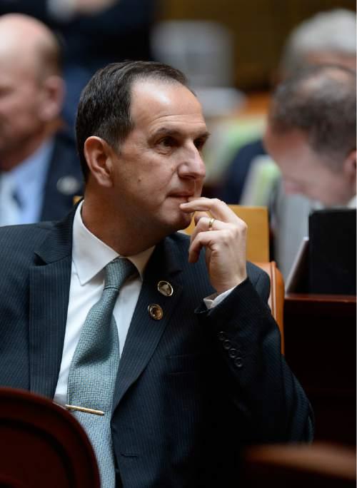 Scott Sommerdorf      The Salt Lake Tribune Rep. Norman Thurston, R-Provo, in the Utah House of Representatives, Wednesday, January 28, 2015.