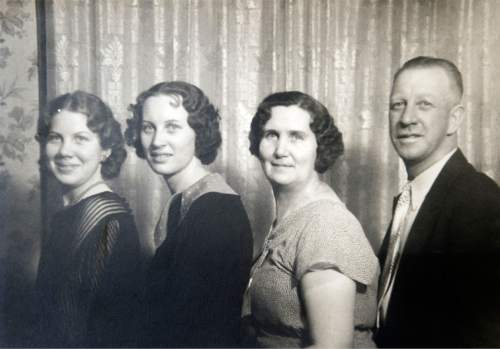 Salt Lake city resident and longtime landlady Thelma McDonald, second from the left, pictured with family members.